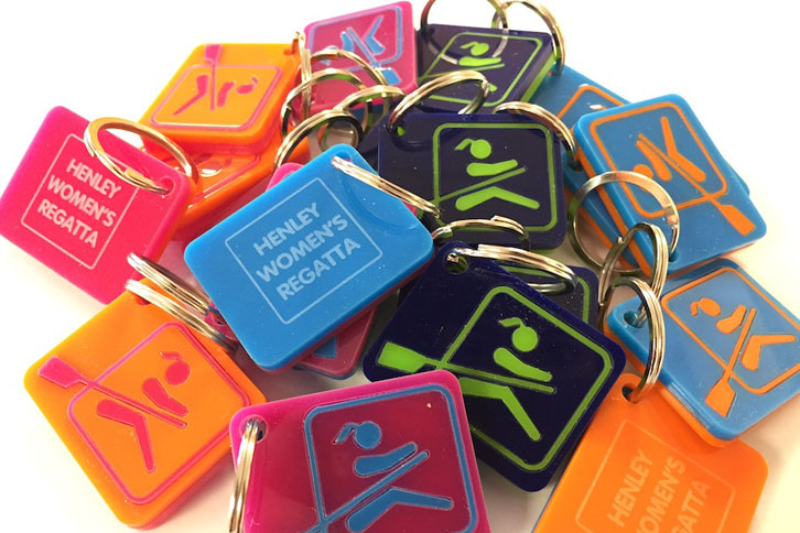 Laser cut acrylic keyrings wholesale