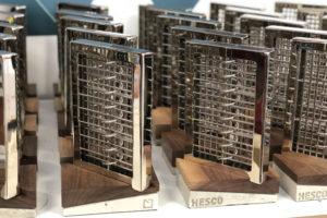 Bespoke trophy bases for Hesco