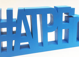 cnc milled large letters
