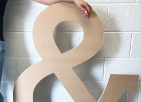 Large letter MDF for a wedding