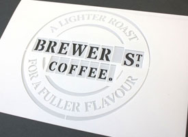 Laser cut logo stencil