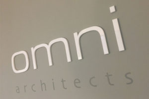 Laser cut acrylic letters for office signage