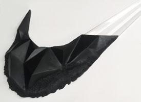 Bespoke 3d prop making Nike swish, 3d milled using cnc milling