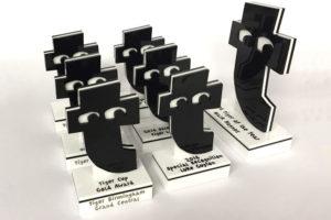 Bespoke acrylic awards for Tiger