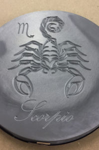 CNC milled engraved resin props