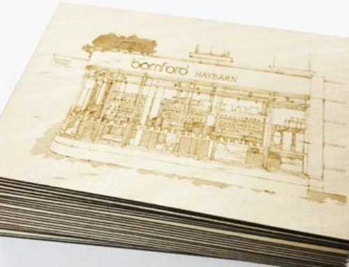 Bamfords laser cut plywood invitations