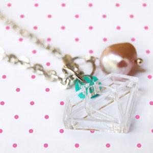 Laser cut acrylic pendant