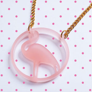 Laser cut acrylic necklace