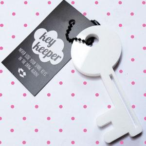 Large laser cut key ring