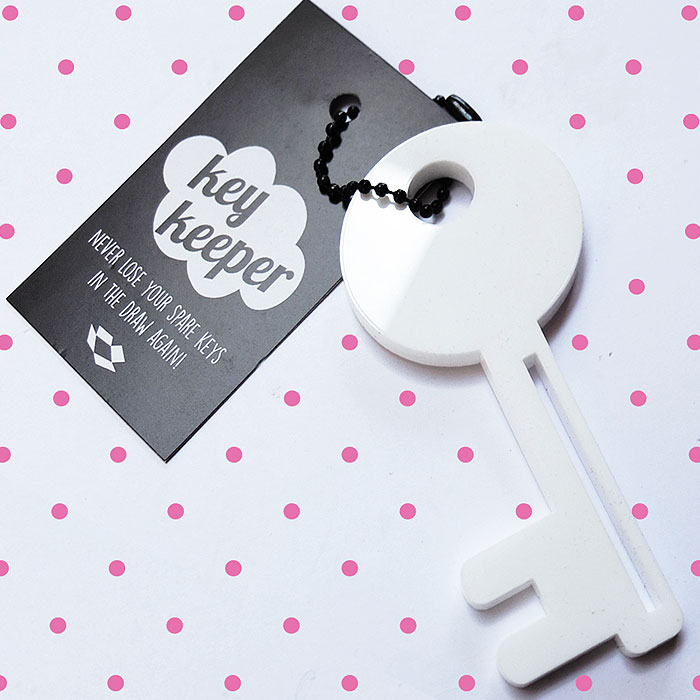 Large laser cut key ring