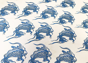 Laser cut paper fish