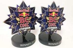 Laser cut, bespoke, acrylic trophies for Redbull. .