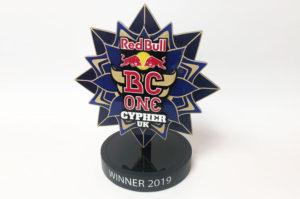 Bespoke acrylic trophy for Redbull BC ONe UK