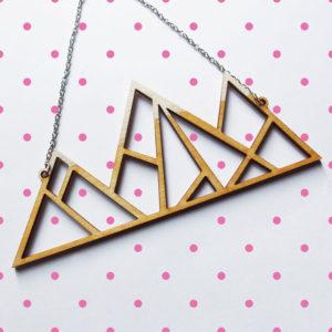 Laser cut plyood necklace