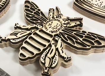 Wood print blocks for Extinction Rebellion