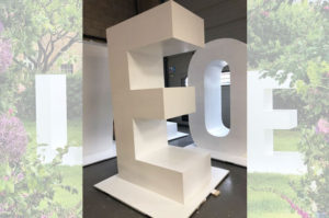 3d large white painted letters, cnc machined