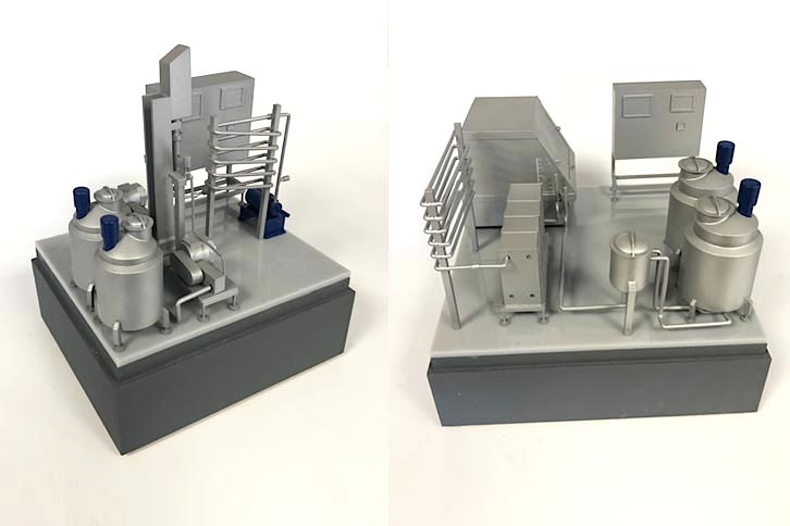 Small industrial models for Glosfume