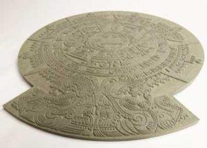 cnc milled Aztec Calendar Prop