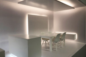 Scale kitchen model for Hafele with integrated lighting