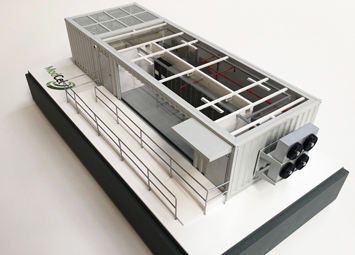 Industrial data center model for tradeshows