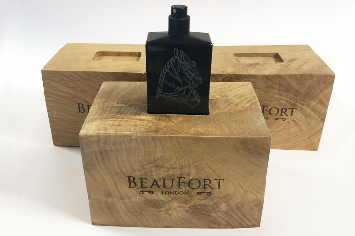 Rustic Oak display stand for Beaufort London