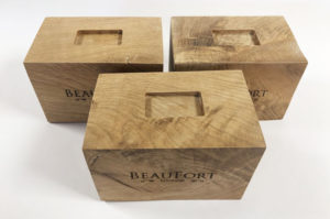 Oak display stand for Beaufort London