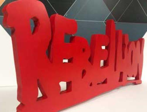 Rebellion 3d logo prop