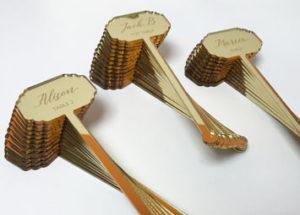 Gold mirror cocktail stirrers