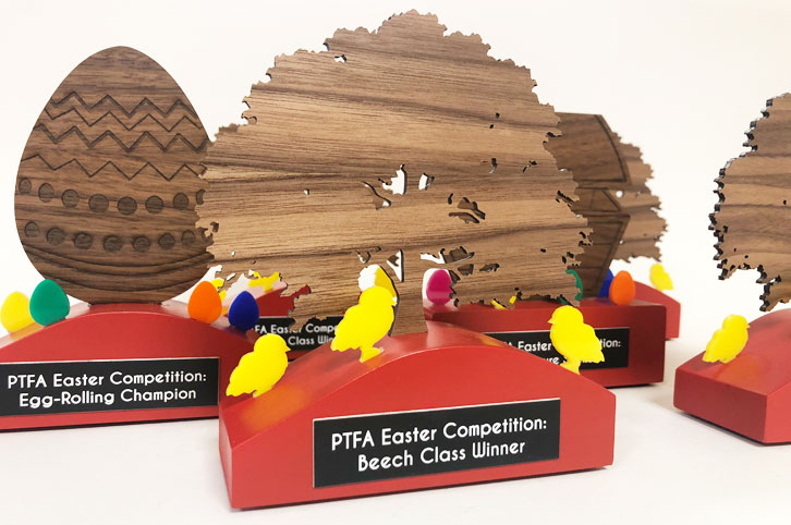 Trophy for Andoversford school Easter competition