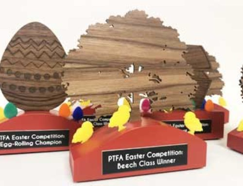 Easter competition trophies