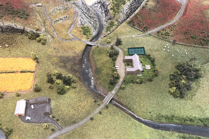 Landscape model showing estate management potential