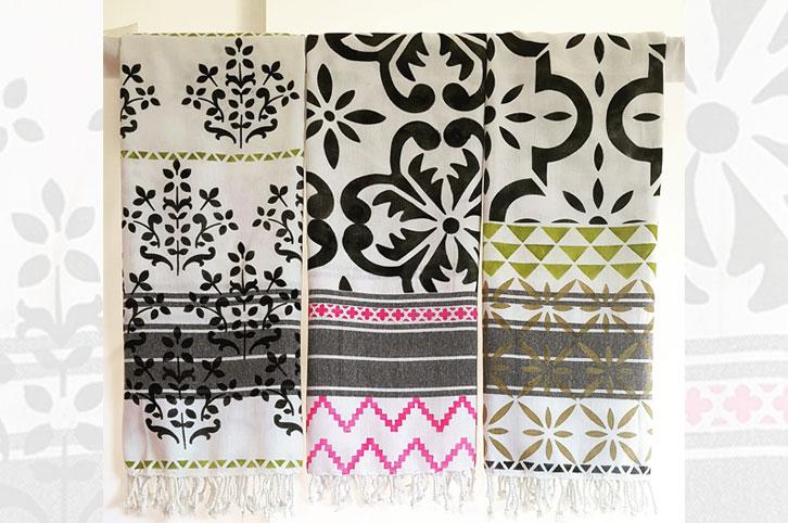 Fabric stencils by Nicolette Tabram