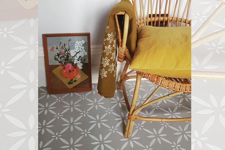 Floor tile stencil by Nicolette Tabram