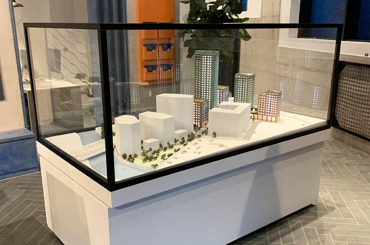 Architectural sales model 1:150 scale